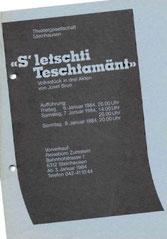 s'letschti Testamänt (1984)