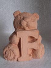 Keramikrohling Buchstabenbär zum selbst bemalen