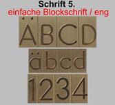 Druckschrift für Schreibgeräte, max. Gravurhöhe 8 mm