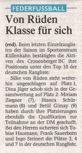 Westdeutsche Zeitung Bericht vom 14.06.2004