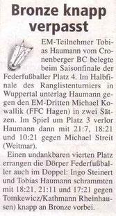 Cronenberger Woche Bericht vom 24.09.2005 ERLT