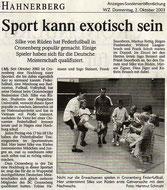 Westdeutsche Zeitung Bericht vom 02.10.2003