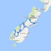 Road Map Of New Zealand South Island.2 Week Road Trip Itinerary Around New Zealand In A Faraway Land