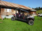 Ankunft auf der Alp nach Quad Tour