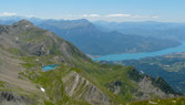 Lac brun et lac de Serre-Ponçon
