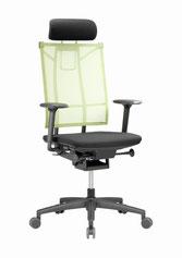Bürostuhl Bürodrehstuhl Nowystyl SAIL GT6 Glide-Tec Mesh Netzrücken + Kopf-Nackenstütze