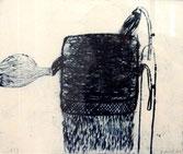 "Hubert Schmalix  ""o.T."" - 1975 Radierung/Bütten 27x35cm Aufl. 1 Stk."