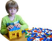 Legosteine mit Werbung