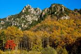 紅葉の瑞牆山