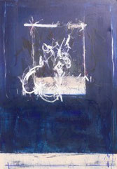 Weiß-Blaue Öffnung, Mischtechnik auf Leinwand, 80 x 120 cm, 2006