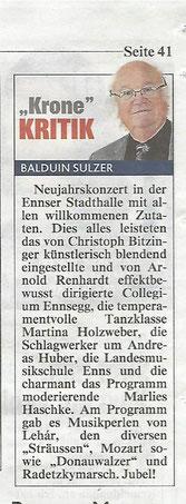 """Neujahrskonzert 2016, """"Kronenzeitung"""""""