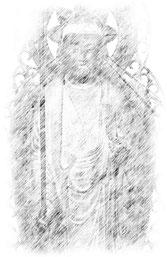 奥院の地蔵菩薩立像