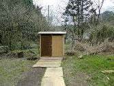 大上坊の仮設トイレ