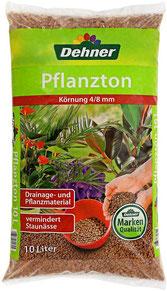 Substrat für Zimmerpflanzen - Blähton unterstützt durch seine grobe Struktur die Versorgung der Wurzeln mit Sauerstoff. Es speichert zudem Wasser und sorgt für eine gleichmäßige Abgabe von Feuchtigkeit.