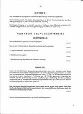 Baugenehmigung Seite 2