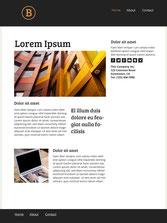 Página de inicio de una web de servicios