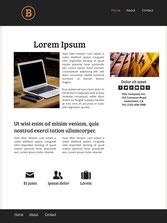 Ejemplo de página de inicio para un sitio de servicios.