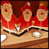 Houten Sfeerlicht  Kerstmannen uniek, theelichthouder speciaal, bijzondere sfeerlichten, uitgevallen theelichthouders