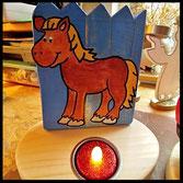 Houten Sfeerlicht Paard uniek, theelichthouder speciaal, bijzondere sfeerlichten, uitgevallen theelichthouders