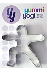 "YUMMI YOGI AUSSTECHFORM ""WARRIOR 2 POSE - VIRABHADRASANA II"" COOKIE CUTTER"