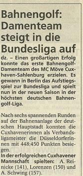 Artikel aus den Cuxhavener Nachrichten aus August 1996
