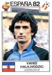 N° 324 - Vahid HALILHODZIC (1982, Yougoslavie > 1986-87, PSG)
