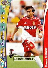 N° 127 - Marco SIMONE (1997-99, PSG > 1999-00, Monaco)
