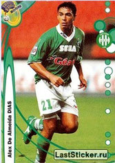 N° 210 - ALEX Dias (1999-00, Saint-Etienne > 2001-02, PSG)