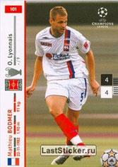 N° 101  - Mathieu BODMER (2007-08, Lyon > 2010-Jan 2013, PSG)