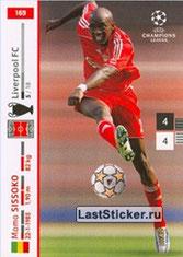 N° 169 - Mohamed SISSOKO (2007-Janv 08, Liverpool, GBR > 2011-Jan 12, PSG)