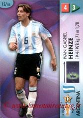 N° 015 - Gabriel HEINZE (2001-04, PSG > 2006, Argentine)