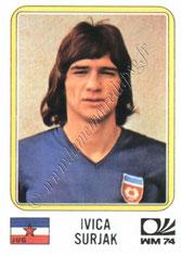 N° 195 - Ivica SURJAK (1974, Yougoslavie > 1981-82, PSG)