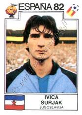 N° 322 - Ivica SURJAK (1981-82, PSG > 1982, Yougoslavie)