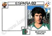 N° 107 - Mustapha DAHLEB (1974-84, PSG > 1982, Algérie)