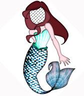 Meerjungfrau Geschenk, Meerjungfrau Kissen,Namenskissen, Kinderkissen, Babykissen, Fotokissen, Tierkissen, Kuschelkissen