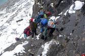 Wie auf einem Klettersteig