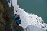 Auf den ersten Metern der Steilstufe