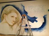 エアブラシ壁画