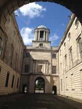 View through entrance