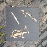 Blades in pavement