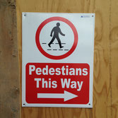 But which way should pedestrians go?