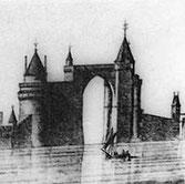 Représentation ancienne des tours de La Rochelle XIV et XVème siècle-11,9km