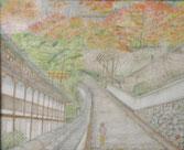 長谷寺にて 水彩10号