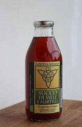 Succo di mele e mirtilli_Cascina Danesa