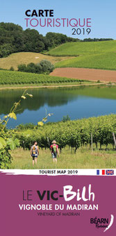"""Tourist map """"The Vic-Bilh"""", in the vineyard of Madiran 2016"""
