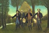 André BAUCHANT - Déclaration d'indépendance des Etats-Unis art naïf