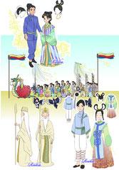 織姫パレード 衣装デザイン