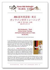 Karate Erlach, Koichiro Okuma-Sensei, JKA Online Karate-Training