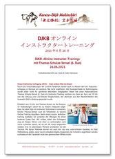 Karate Erlach, DJKB Online Karate-Training, DJKB Instructor-Lehrgang, Thomas Schulze-Sensei