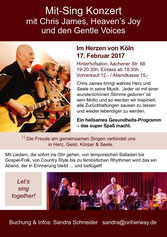Chris James Heavens Joy Gentle Voices Germany Mitsing Konzert